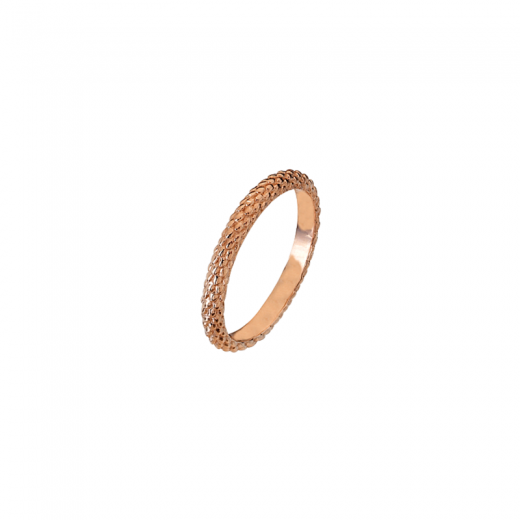 Virtue Stack Rings Pinecone Rose Gold Plate