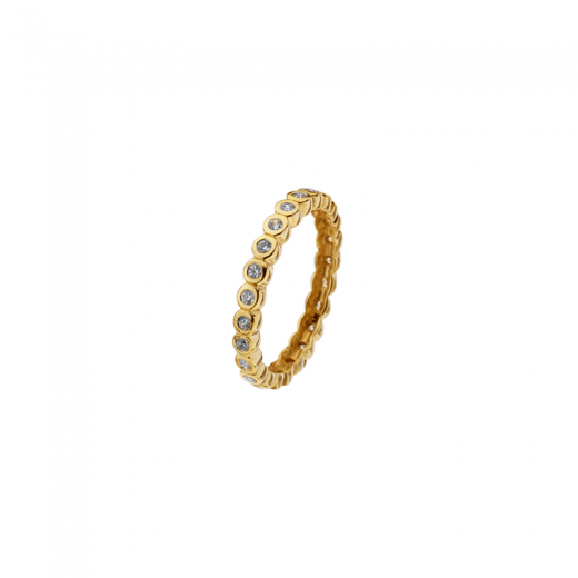 Virtue Stack Rings Polka Dot Gold