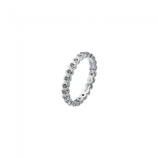 Virtue Stack Rings Polka Dot Silver