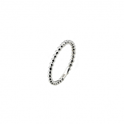 Polka Silver Stack Ring