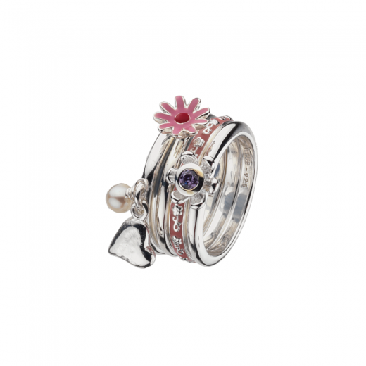 Virtue Stack Rings Pretty In Pink Stack Ring Collection