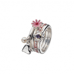 Pretty In Pink Stack Ring Collection