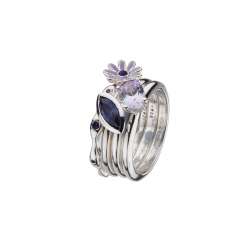 Purple Reigns Stack Ring Collection