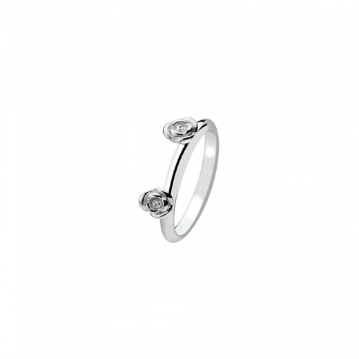 Virtue Stack Rings Rose Garden Silver
