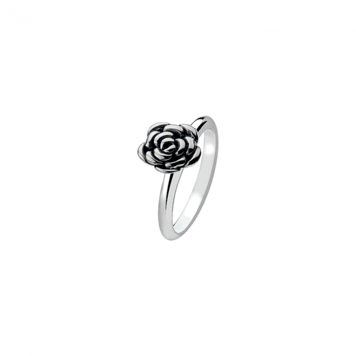 Virtue Stack Rings Silver Rose
