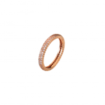 Solar Ring 2 Strand Rose Gold