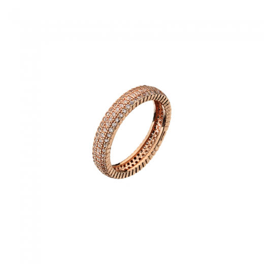 Virtue Stack Rings Solar Ring 3 Strand Rose Gold