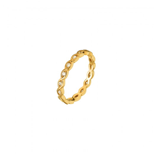 Virtue Stack Rings Solar Weave Gold