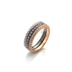 Tricolor Stack Ring Collection